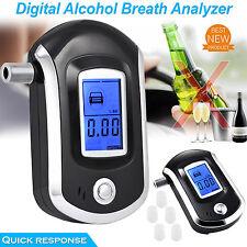 LCD Digital Alcohol alcoholímetro prueba de aliento de policía Tester Analizador detector UK