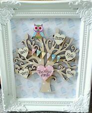 Personalised framed wooden family tree keepsake shabby chic gift