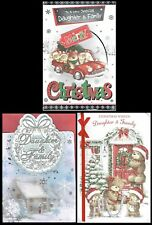 DAUGHTER and FAMILY ~ Quality CHRISTMAS CARD with Fab Verses Choice of Design