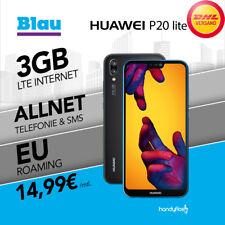 Huawei P20 Lite Dual-Sim im Blau Allnet Flat Handyvertrag nur 14,99€ monatlich
