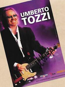 Umberto TOZZI - AK Bild - Groß Format - KOPIE - 15cm x 21cm + Musik AK SIGNIERT