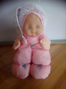 Rare poupée chiffon veilleuse puffalump kids rose blanc Fisher-price vintage