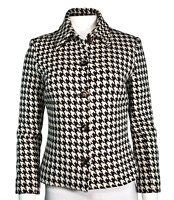 Houndstooth Brown Ivory Celine Jacket Size 38