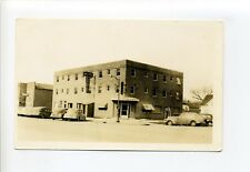Humboldt IA Iowa RPPC real photo, street view, old cars, hotel, signs, postcard