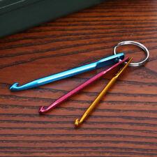 3pcs Mixed Aluminum Knit Needle Crochet Hook Needle Keychain DIY Craft Loom Tool