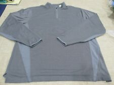 Nwt Cutter Buck Cb DryTec Hudson Bay Mock Mck00549 Men L Shirt Gray