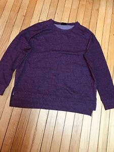 32 Degrees Heat L XL Purple Sweatshirt NWOT Long Sleeve Stretchy Active Wear