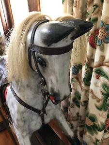 Used Custom Made Wooden Rocking Horse