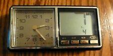 Vintage Travel Desk Clock with Analog and Digital Display AD-833