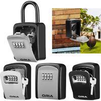 Wall Mounted/Padlock 4-Digit Combination Key Lock Storage Outdoor Gym Safe Box