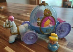 Little People Disney Princess Cinderella Coach Carriage Music Lights w Figure