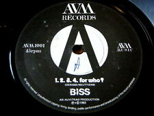 "BISS - 1.2.3.4. FOR WHO  7"" VINYL"