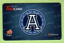 TIM HORTONS ( Canada ) Toronto Argonauts 2011 Gift Card ( $0 )
