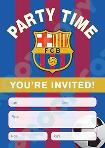 FOOTBALL TEAM Shirts Pack of 10 INVITATIONS kids children party invites
