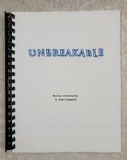 Unbreakable Movie Script Reprint Full Screenplay Script 2000 Film Bruce Willis
