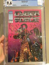 Cyberforce #8 CGC 9.6 NM+ Todd McFarlane Cover Art L@@K!
