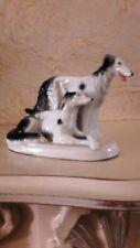 Borzoi Russian Wolfhound Greyhound Vintage German porcelain figurine 8289c