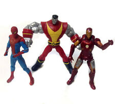 """Marvel Universe scale 3.75"""" figures set lot, spiderman, ironman & colossus"""