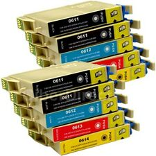 10 CiberDirect T0611 T0612 T0613 T0614 Ink Cartridges to fit Epson Printers