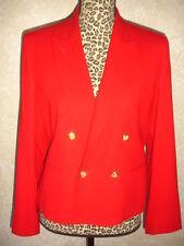 VINTAGE RALPH LAUREN BLAZER JACKET RED 8 P 100% WOOL WOMEN DRESSY SUIT BEAUTIFUL