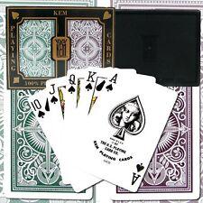 Kem Arrow Green Brown Bridge Regular Index Playing Cards, Narrow, long lasting
