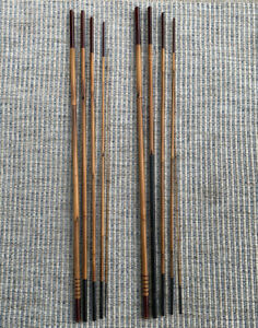 Set Of Two Primitive Vintage Rod Cane Bamboo Fishing Poles 14 Feet 7 Inches Long