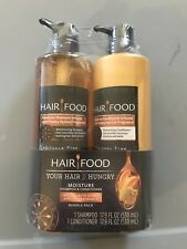 NEW Clairol Hair Food Moisture Honey Apricot Shampoo & Conditioner 17.9oz PUMPS