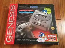 Vtg Sega Genesis Sonic The Hedgehog 2 System Bundle in Box 2 Controllers #1614
