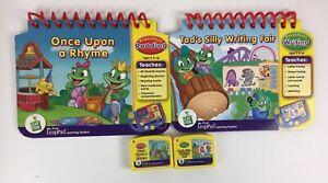 Lot of 2 LeapPad Leap Frog Storybook & Cartridge Preschool Writing & Reading