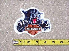 RARE HARLEY DAVIDSON MOTORCYCLES Black PANTHER BAR SHIELD Outside Decal Sticker