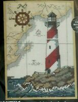 "NIP Dimensions The Maririme Counted Cross Stitch Kit 5"" x 7"" 1995 Lighthouse"