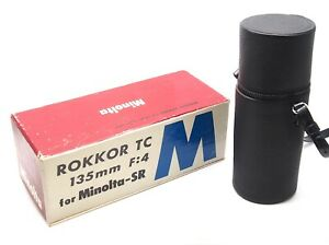 Minolta Rokkor TC 135mm F4 Zoom Lens Box & Case - UK Dealer