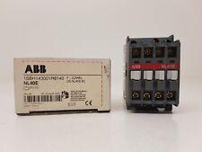 ABB NL40E 1SBH143001R8140 contactor 4 NO AUX 24VDC 16A AC-15 Ie 3A 400V