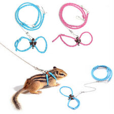 Adjustable Pet Rat Mouse Hamster Harness Rope Lead Leash with Bells Pet Supplies