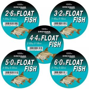 Drennan Float Fish Line 100M Monofil Fishing Line - TWO PER ORDER