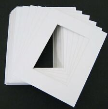 Set of 10 16x20 White photo mats with White Core Bevel Cut for 11x14