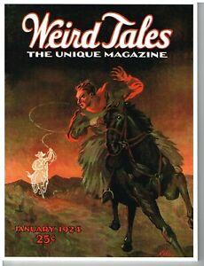 Weird Tales pulp replica facsimile, January 1924, bedsheet, Lovecraft