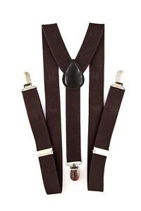 New Colors Mens Womens Clip-on Suspenders Elastic Y-Shape Adjustable Braces