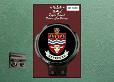Royale Classic Car Badge & Bar Clip CITY of HEREFORD B1.1080
