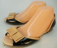 Jeffrey Campbell Wo's US 7.5 Black Tan Leather Slip-On Casual Shoes Ballet Flats