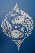 Scrapbooking - STENCILS TEMPLATES MASKS SHEET - Fish Stencil