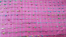 Pink Poly Fabric with Multi-Color Textured - BTY