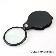 10x Pocket Hand Sized Monocle Magnifying Magnifier Foldable Loupe Glass Loop JS