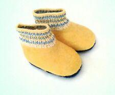 Wollfilz Kinder Hausschuhe Wool booties EUR26-27❄16 cm Felt Slippers Little Kids