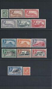 GIBRALTAR 1938-51 SET OF FOURTEEN MM SG 121/131 CAT £180