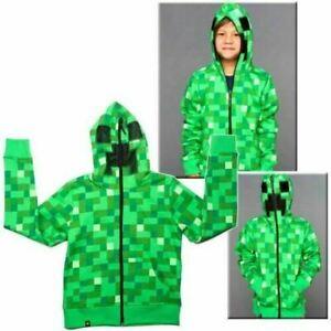 Minecraft Creeper Kids Boys Girl Youth Hoodie Zip Coat Sweater Jacket Minecraft