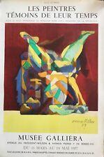 Jacques VILLON 1875-1963.Affiche lithographique Mourlot.1957.Signé/planche.74x50