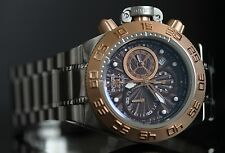 Invicta Mens 43mm Subaqua Noma IV Swiss Made 18k Rose Gold Bezel Watch