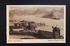 Carte postale ancienne CPA TALLOIRES et Chapelle du Toron - Lac d'Annecy