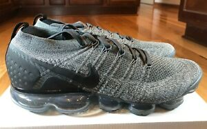Nike Air Vapormax Flyknit 2 Dark Grey Black Wolf Grey Men's Size 14 NOBOXTOP
